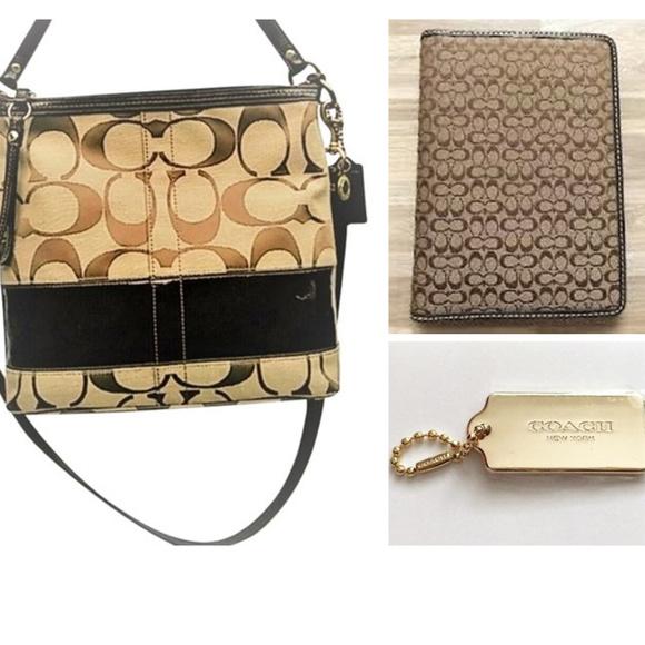 Coach purse, Coach passport holder, Coach hang tag